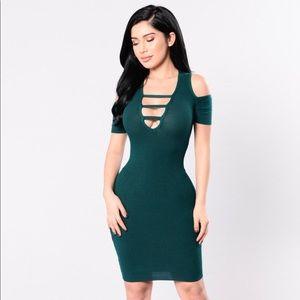Spiritually Inclined open shoulder mini dress 👗